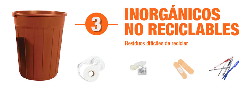 Basura inorganica dificil de reciclar