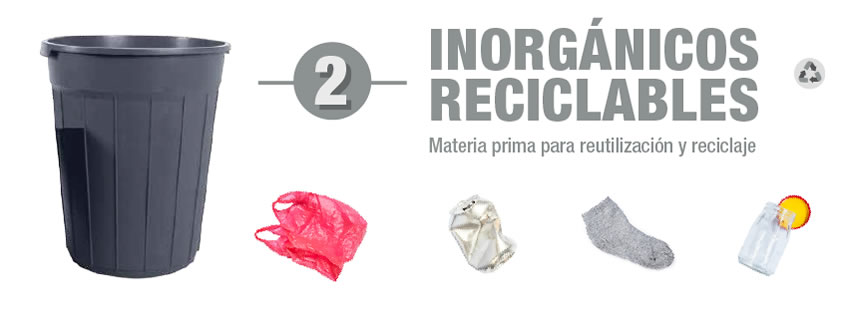 Basura inorganica reciclable