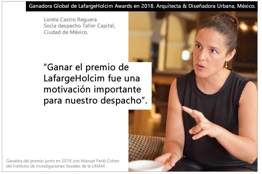 Loreta Castro Gana LafargeHolcim Awards En 2018