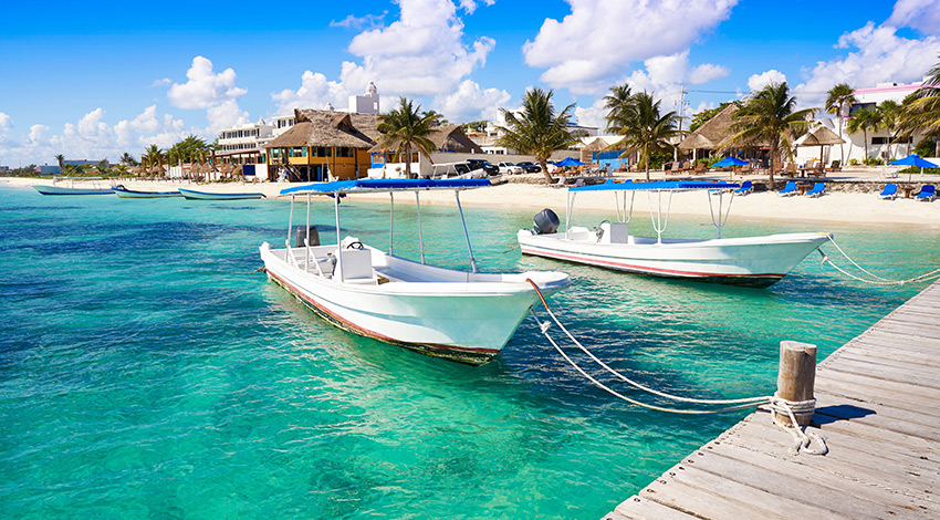 Muelle en Puerto Morelos, Quintana Roo