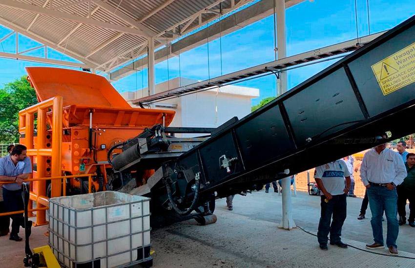 Maquinaria para preparar residuos sólidos para su coprocesamiento, Macuspana, Tabasco.