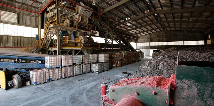 Preparación de residuos para su coprocesamiento en hornos de cemento.