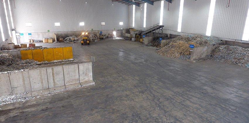 Interior de nueva planta de Geocycle en Hermosillo, Sonora.